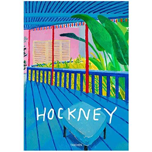 wzgsffs David Hockney Taschen Moderne Malerei Bstract Bunte Leinwandbilder Poster Wandbilder Wohnzimmer Dekor Pop -55x80cm No Frame