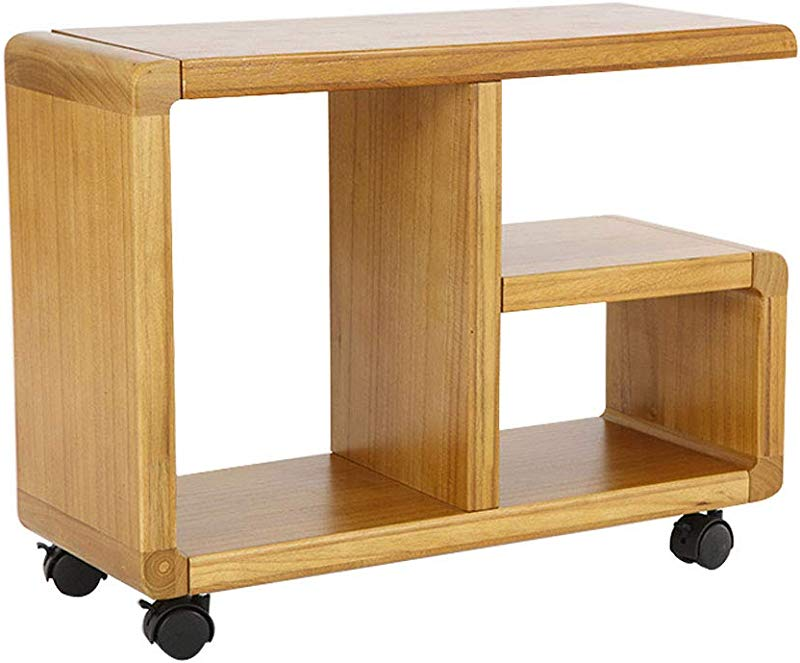 Changde Bedside Table Bedside Table Solid Wood Removable Shelves Storage Racks Sofa Side Shelves Living Room Small Coffee Table 602345 5CM End Tables Color B