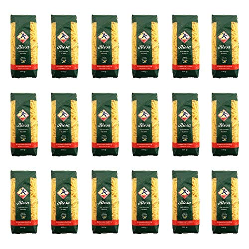 18er Pack Riesa Nudel Schlemmerliebling Makkaroni Chips (18 x 500 g) Teigwaren, Riesa Nudeln, Pasta