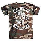 pesce Pescatore passatempo canna da pesca Maglietta camou T-shirt Camicia M