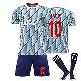 2021 AJAX Away Football Jersey Traje, Juego de Camisetas de fútbol de Adultos y niños, Ziwech 22# Tadic 10# Neres 7# promes 11# Van de beek 6# Jersey NO.10-XXL