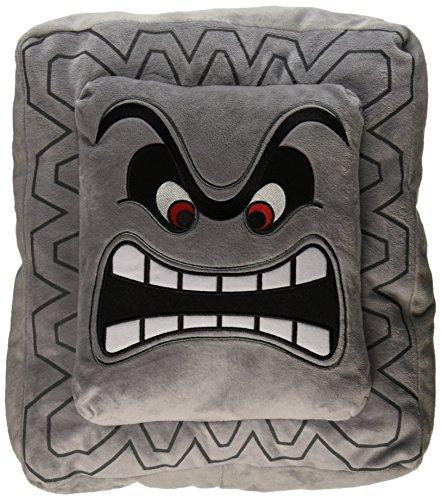 "Nintendo Official Super Mario Thwomp Cushion/Pillow Plush, 12"""