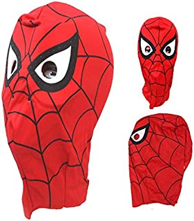 Superhero Spiderman Deluxe Mask Costume for Kids Pretend Play Birthday Party Halloween Red