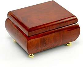 Astonishing Hi Gloss Wood Tone Petite Music Box - Over 400 Song Choices - Fly Me to The Moon