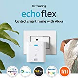 Make any space smarter - This plug-in Echo device lets you use your voice to control compatible smart home devices and get help from Alexa in more places in your home. Echo Flex can bring Alexa to your speaker, and makes it a smart speaker that can s...