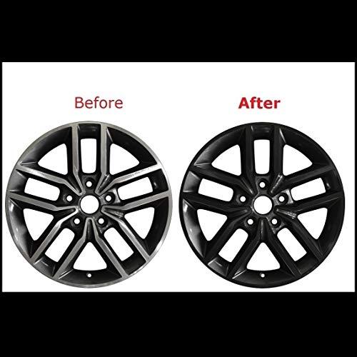 """Chrome Delete Vinyl Kit Blackout Trim Overlay for 2011-20 Jeep Grand Cherokee 18"""" Wheel Rim (Gloss Black)"""