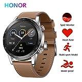 Honor Magic Watch 2 Smartwatch,GPS 5ATM Impermeabile Orologio Bluetooth Smart Monitor di Frequenza Cardiaca, Stress e Spo2,Smart Watch Donne Uomo, (Marrone 46mm)