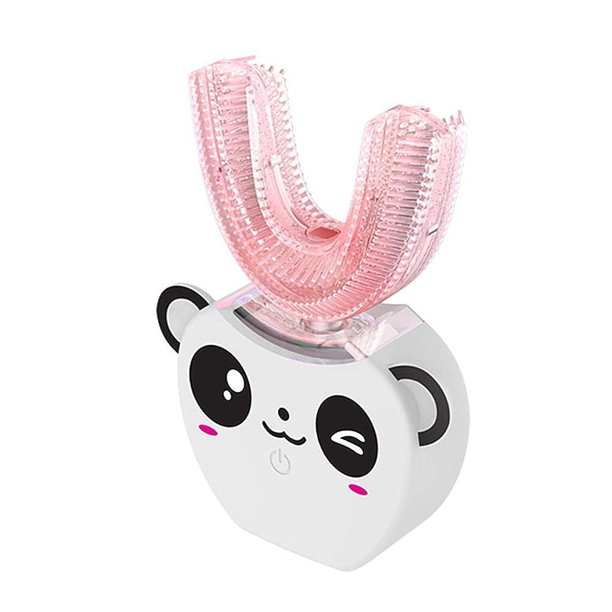 短命ささいな段階自動子供の電動歯ブラシ、子供のためのUタイプで泡立つ360度ブラッシングホワイトニング、5年,White