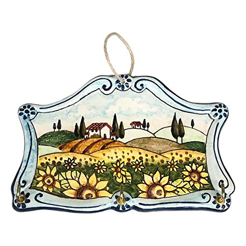 CERAMICHE D'ARTE PARRINI - Italian Ceramic Art Keyring or Hang Cloth Pottery Hand Painted Made in ITALY Tuscan
