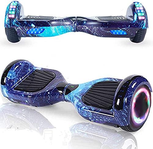 Magic Vida Hoverboard - 6.5'- Bluetooth - Motore 700 W - velocità 15 KM/H - LED - Overboard Elettrico autobilanciati - per Bambini e Adulti - Blu Galaxy