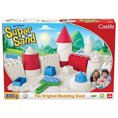 Goliath 383330.006 Castle-magischer Super Sand für Sandburgen im Kinderzimmer-Empfohlen ab 4 Jahren, weiß