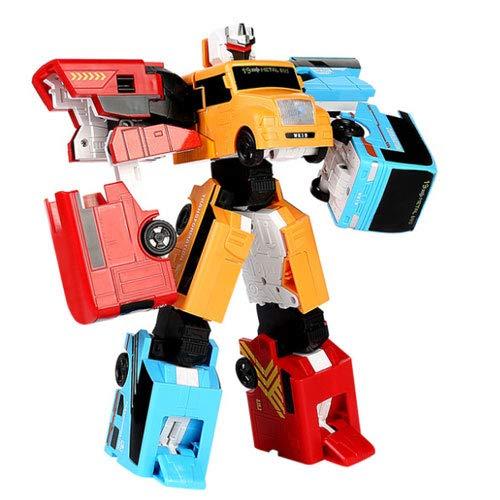 WZRYBHSD Autobot Deformation Juego De Juguete Versión De Aleación De Autobús Escolar Tres En Uno Robot Modelo Manualmente Modelo De Transformación Vehículo Blindado Coche Niños Niños Niños Regalos Reg