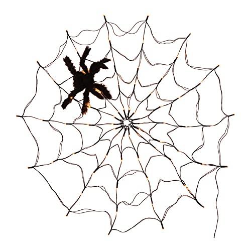 SunniMix Cadena de luz de araña para Fiesta de Halloween, Cerca de árbol, pérgola de jardín, lámpara Colgante de Pared, Dormitorio, Sala de Estar, Festival - USB