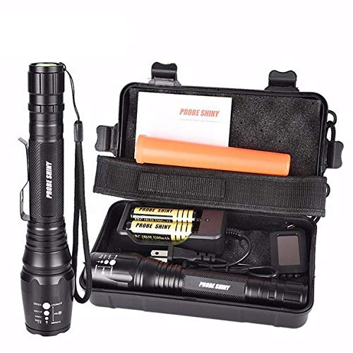 DOGZI Linternas X800 XML T6 LED Zoom Tactical Military Flashlight Super Torch Set,Linternas Táctica Militar para Ciclismo Camping Montañismo