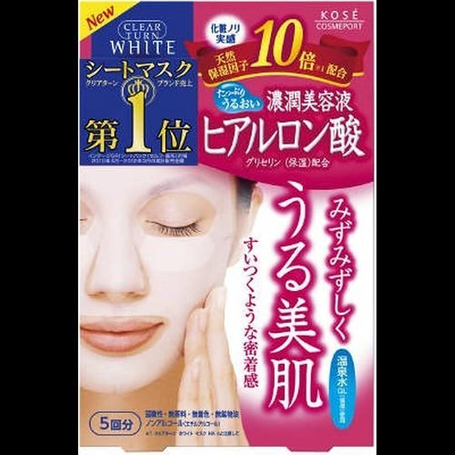 返済血栄光のクリアターン ホワイトマスク ヒアルロン酸 5回分 ×2セット