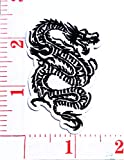 White Black Chinese Dragon Kung Fu Martial Arts Cartoon Patch Sew Iron on Embroidered Applique Craft Handmade Baby Kid Girl Women Cloths DIY Costume Accessories