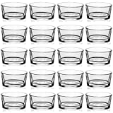LAMORGIFT Glass Tealight Candle Holder Set of 24 - Clear Tea Lights Candle Holders for Wedding Centerpieces& Party Decorations& Home Decor