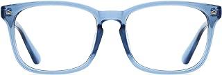 TIJN Unisex Stylish Square Non-Prescription Eyeglasses Glasses Clear Lens Eyewear
