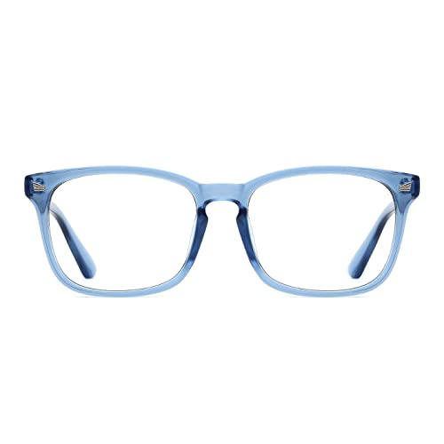 0e8dbe7f3f9 TIJN Retro Square Eyeglasses Frame Optical Eyewear Non-prescription  Eyeglasses Frame with Clear Lenses for