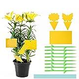 colmanda trappole appiccicose, 42 pezzi giallo trappola, biadesivo trappole per insetti, trappole appiccicose per parassiti delle piante con accessori fissi