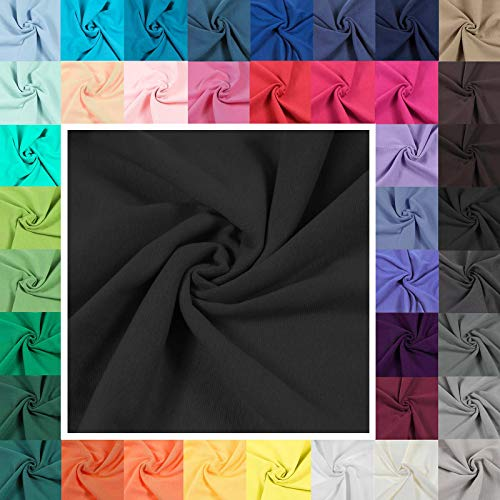 Bündchenstoff Schlauchware 35(70) cm breit Meterware ab 25cm Jersey Bündchen, Farbe:schwarz