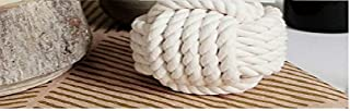 NAUTICALMART Nautical Rope Knot Table Card Holder White Rope 5 Across No Roll Number Holder