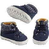 MINIBANDA Zapatos de cuna para bebé, azul R310 Azul Size: 18 EU