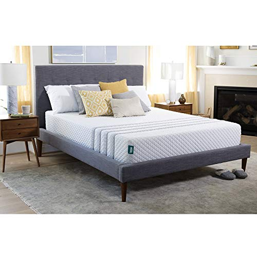 Leesa Hybrid Mattress, Luxury Hybrid 11' Mattress in a Box, CertiPUR-US Certified 3 Layer Spring/Memory Foam Construction, Queen, White & Gray