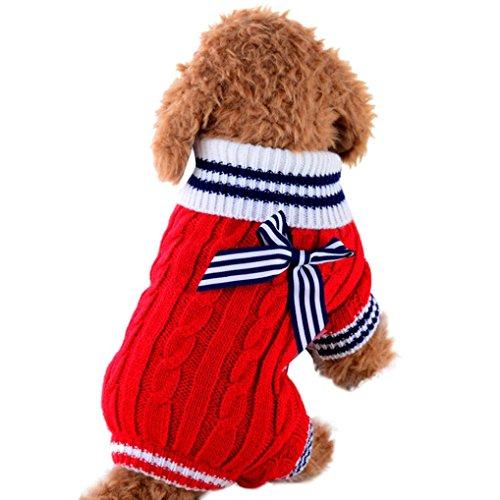 SOMESUN Sweater Welpe Haustier Hund Pullover Hund Kleidung kleine Hunde Winter Pullover Strampler