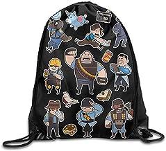 N/A Drawstring Backpack Sack Bag Team Fortress 2 BLU All Class Home Travel Sport Storage Hiking Running Bags