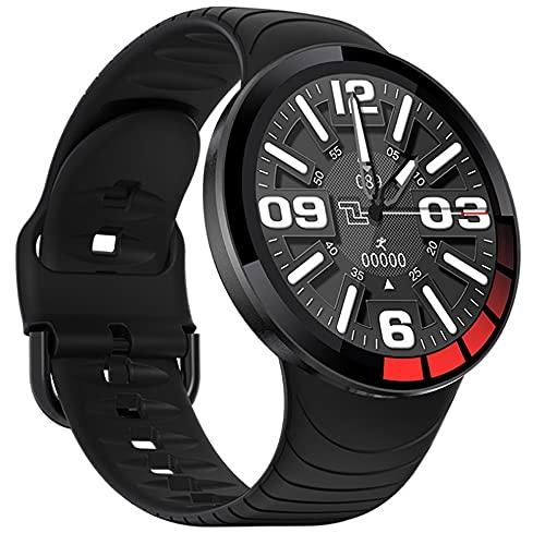 Pomety El Reloj Inteligente Puede medir la presión Arterial y la frecuencia cardíaca, el podómetro, la Pulsera Inteligente, el Reproductor de música, la Pulsera multifunción (Color : Negro)