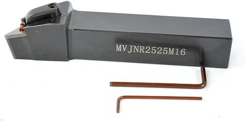 discount 1PCS MVJNR 2525M16 Alloy Steel CNC popular Lathe Excircle Turning Tool Holder Boring Bar online For VNMG1604 , Holder width 25 mm , Overall length 150 mm , 2525 mm MVGNR Tool Holder outlet sale