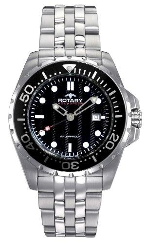 Rotary Herren-Armbanduhr XL Aquaspeed Analog Edelstahl AGB00013/W/04