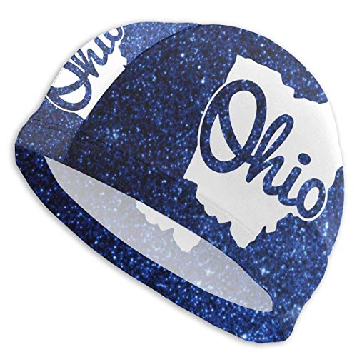 HFHY I Love My Ohio Home Adult Summer Time Beach Bath Caps for Men Women Unisex