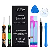 JBEIY New 2500mAh Battery Compatible with iPhone 6, Super High Capacity Replacement Battery 0 Cycle, with Complete Professional Replace Tool and Instructions-1 Year Assurance
