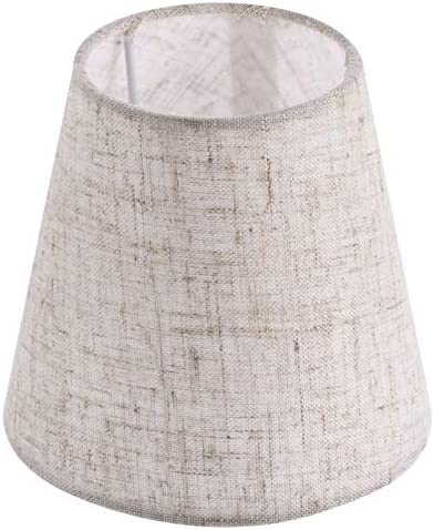Mobestech Small Lamp Shade Cloth Barrel Fabric Fabric Lampshade Table Lamp Cover Chandelier product image
