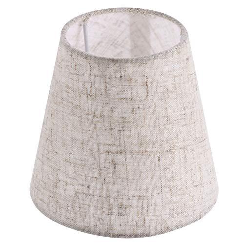 Uonlytech Pantalla pequeña de tela de barril de tela para lámpara de mesa, cubierta de lámpara de repuesto para la casa, 1 unidad de lino
