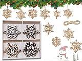 HIQE-FL Adornos Colgantes de Navidad,Adornos Árbol de Navidad,Ornamento del Árbol de Navidad, Adornos de Navidad Madera,Colgantes de Madera para Árbol (C)