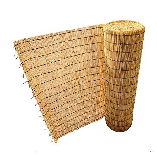 L-DREAM Persiana Enrollable Exterior Cortina De Bambú, Estor Enrollables De Caña para Interiores Ventanas, Balcón, Protector Solar, Estores Bambú para Sala De Cama 140x225cm