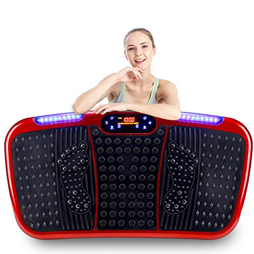 LieYuSport Vibrationsplatte Fitness,Vibrationstrainer Rüttelplatte Sport mit Bluetooth-Lautsprecher/USB Verbindung,Vibration Plate Ganzkörper Trainingsgerät 3 Modi / 99 Geschwindigkeitseinstellung