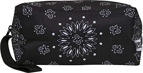 Urban Classics Unisex Bandana Print Cosmetic Pouch, Black, one size