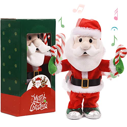 """ARELUX Christmas LED Santa Claus Toy 14"""" ,Animated Singing Dancing Electric Toy ,Xmas Musical Gift Decorations"""