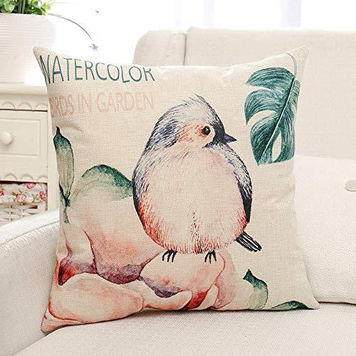 miwaimao 2 piece Christmas pillow Home Supplies Birds Digitalg Kind of Animals Square Sofa Cushion Cover Throw Pillow Case