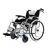LJWJ Ruedas Livianas Portátil Transporte Asistencia Médica Plegable Ancianos, Deshabilitados, Rehabilitación Carrito de Enfermería de Pacientes Asiento 3D Diseño de Absorción de Choques 3D Manual