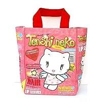 Tenshi Neko: Angel Kitty Shopping Tote Bag with Zipper (W9.5 inchx H12 inchx D4 inch) [並行輸入品]