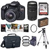Canon EOS Rebel T6 DSLR Camera with EF-S 18-55mm and EF 75-300mm Lens Basic Bundle...