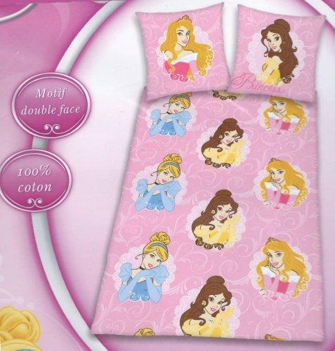 Juego de funda nórdica cama Disney Princesas CINDERELLA BELLE AURORA funda de almohada - Princess Funda Nórdica