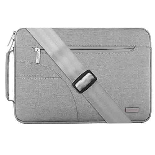 Mosiso Laptop Shoulder Briefcase Bag for Laptop 15 Inch, Light Gray