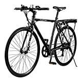 EB12 Electric Bike | City Commuter eBike w/ 700c Wheels, 7-Speed Shimano Gears, Swappable Battery | Classic Diamond Frame & Flat Bar...