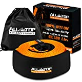 ALL-TOP Extreme Duty Nylon Recovery Strap - 4' x 20' - Towing Snatch Strap (46500 lbs) 100% Nylon and 22% Elongation